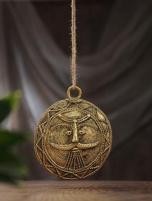 Dhokra Brass Moon Mask (L:5.2in, W:54in)