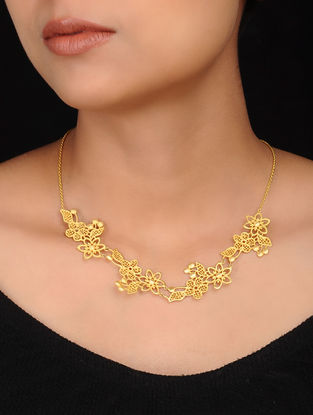 Classic Gold Plated Brass Necklace