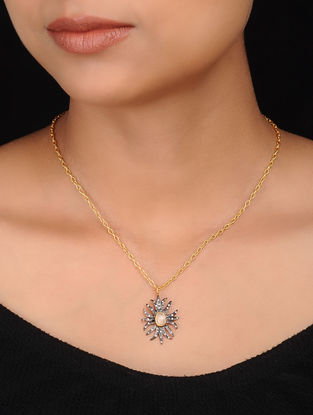Black Gold Plated Brass Necklace
