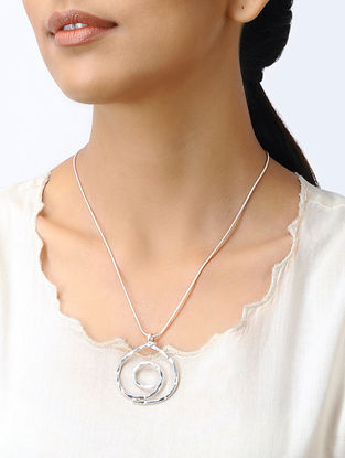 Classic Silver Necklace with Pendant