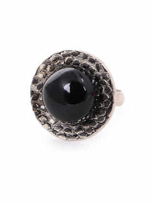 Black Onyx Silver Ring (Ring Size -6)