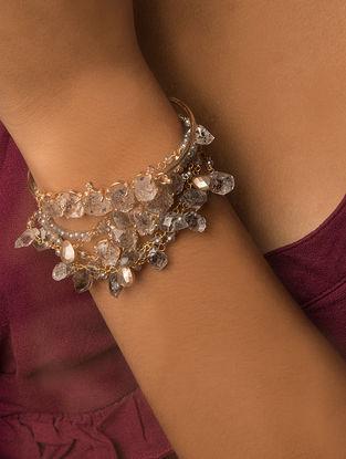 Grey Gold Tone Kaska Multiline Bracelet