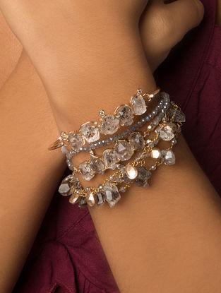 Grey Gold Tone Kaska Wrap Bracelet