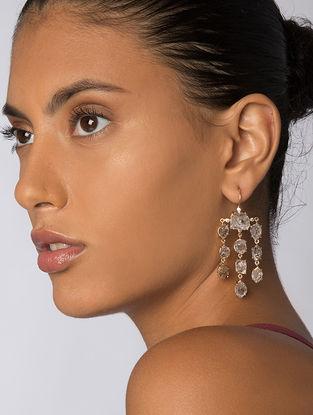 Grey Gold Tone Kaska Statement Earrings