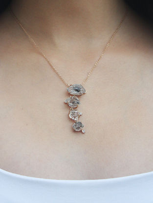 Grey Gold Tone Kaska Delicate Necklace