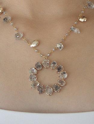 Grey Gold Tone Kaska Statement Necklace