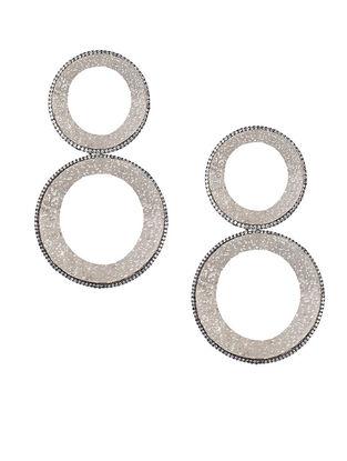 Silver Tone Zabel Double Hoop Earrings