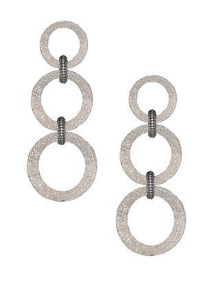 Silver Tone Zabel Triple Hoop Earrings