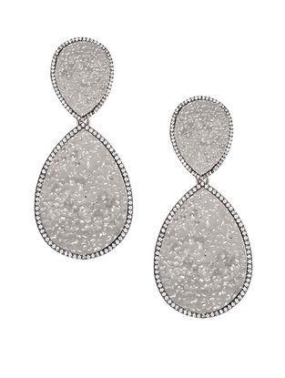 Silver Tone Zabel Statement Drop Earrings