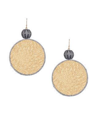 Gold Plated Zabel Circular Gold Drop Earrings