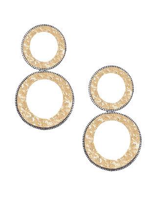 Gold Plated Zabel Double Hoop Earrings