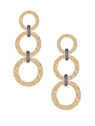 Gold Plated Zabel Triple Hoop Earrings