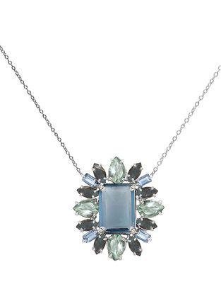 Blue-Grey Bluette Short Necklace