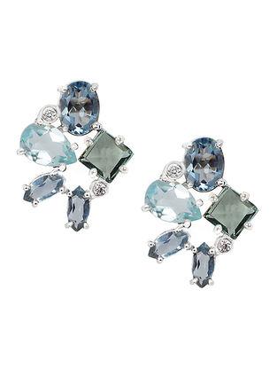 Blue-Grey Bluette Mariko Cluster Stud Earrings