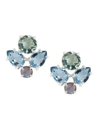 Blue-Grey Bluette Gaba Stud Earrings