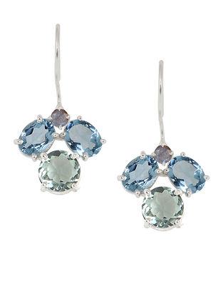 Blue-Grey Bluette Droplet Earrings