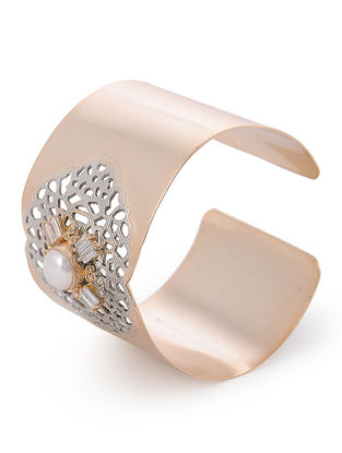 Pearl Gold and Rhodium-plated Brass Cuff