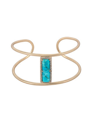 Mojave Turquoise Gold-plated Brass Cuff