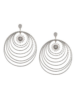 Classic Rhodium-plated Brass Earrings