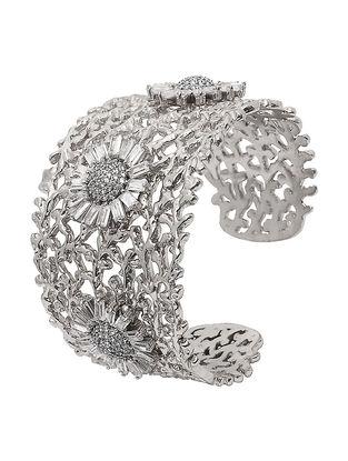 Classic Rhodium-plated Brass Bracelet