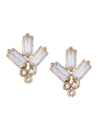 Classic Gold-plated Brass Earrings