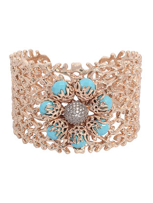 Turquoise Ajoure Princess Cuff
