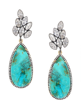 Turquoise Monaco Resort Two Tone Drop Earrings
