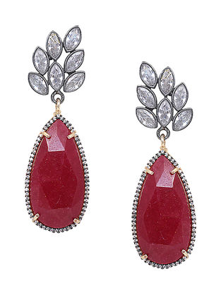 Ruby Corundum Monaco Drop Earrings