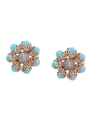 Turquoise Ajoure Studs