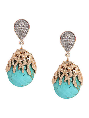 Turquoise Princess Ajoure Drop Earrings