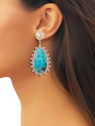 Pela Turquoise Drop Earrings