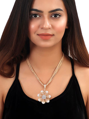Ajoure Pearl Short Necklace