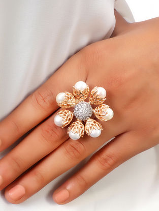 Ajoure Pearl Ring