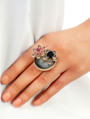 Rose Asteri Black Onyx Duo Ring