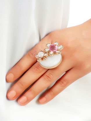 Rose Asteri Pearl Duo Ring