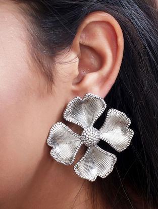 Grey Mystique Pave Stud Earrings