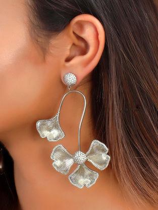 Grey Mystique Pave Earrings