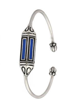 Blue Enameled Adjustable Cuff