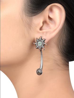 Multi-colored Enameled Earrings