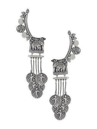 Tribal Silver Ear Cuffs