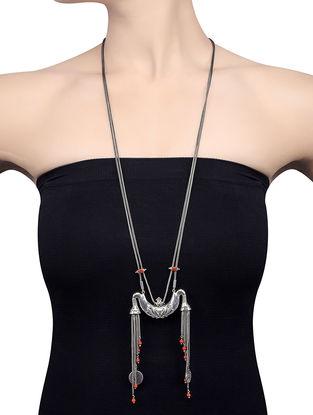 Coral Silver Necklace