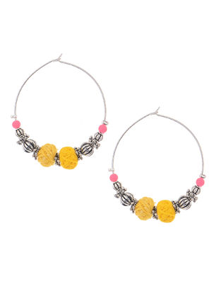 Yellow Thread Earrings