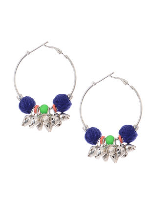 Blue Thread Earrings