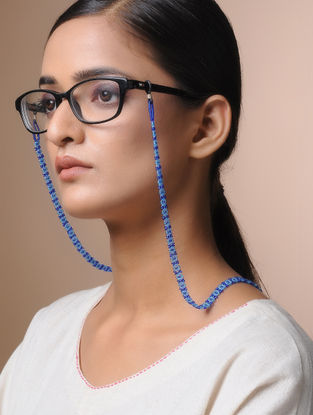Blue Handcrafted Beaded Eyewear Chain