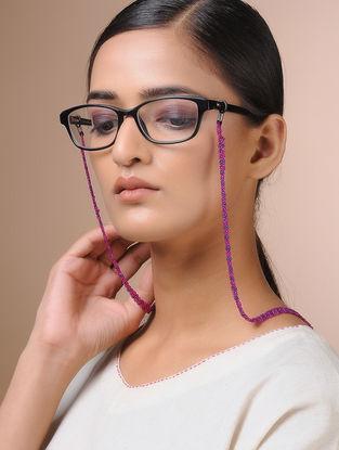 Purple Handcrafted Beaded Eyewear Chain