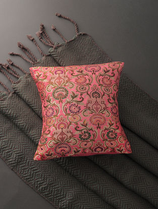 Multicolored Silk Brocade Cushion Cover
