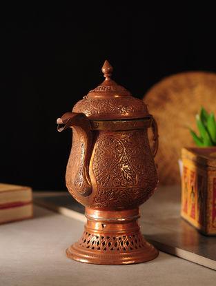 Vintage Kashmiri Samovar Copper Kettle (L:8in, W:4.5in, H:9.6in)
