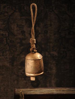 Vintage Iron Cow Bell with Jute Loop (13.7in x 3in)