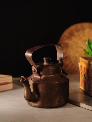 Vintage Brass Kettle (L:6.5in, W:4.5in, H:5.2in)