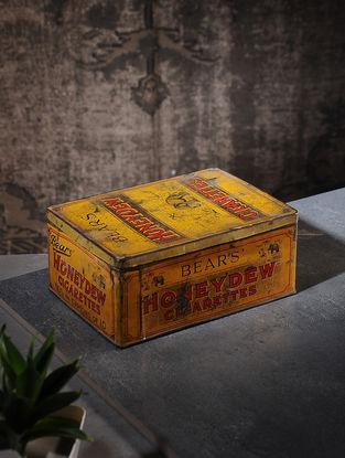 Vintage Iron Cigarette Box (L:6in, W:8.5in, H:3.5in)